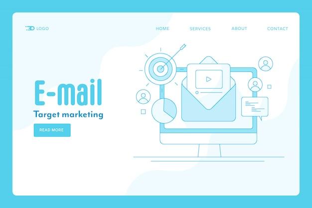 Concept de contour de marketing par courriel