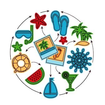 Concept de contour de vacances