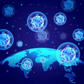 Concept de coronavirus de conception de globe