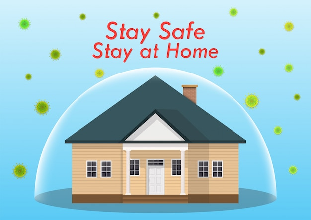 Le concept de coronavirus. restez à la maison pendant l'épidémie de coronavirus.