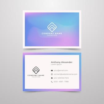 Concept de couleur patel pour carte de visite