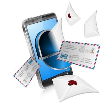 Concept de courrier électronique