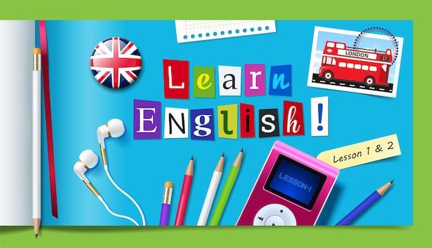 Concept de cours d'anglais