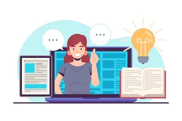 Concept de cours en ligne