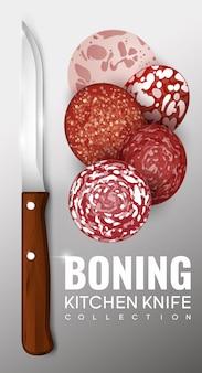 Concept de couteau à désosser réaliste