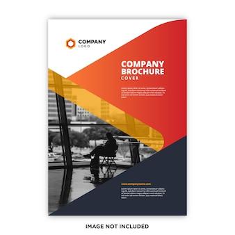 Concept de couverture de brochure d'entreprise