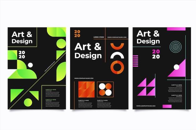 Concept de couvertures colorées abstraites