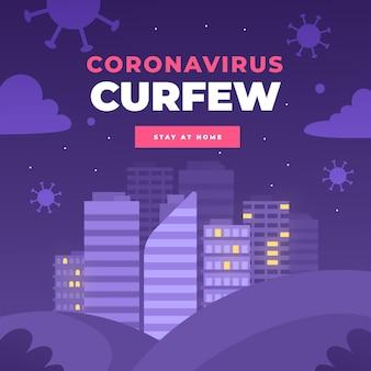 Concept de couvre-feu de coronavirus