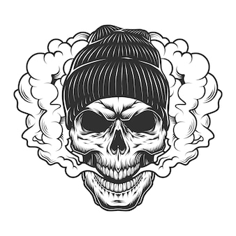Concept de crâne de vaper