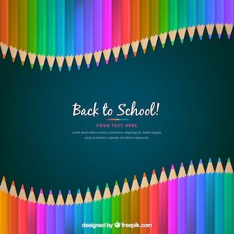 Concept de crayon de retour à l'école