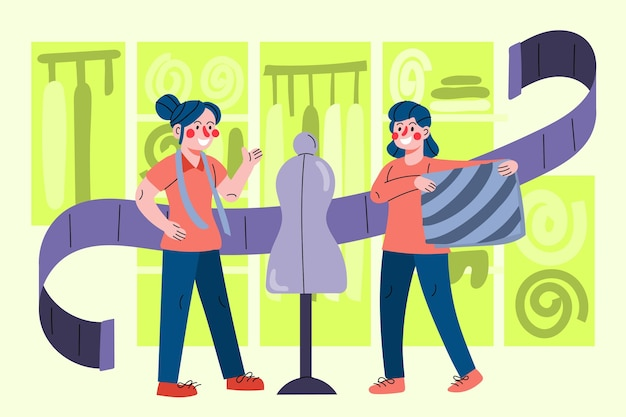Concept de créateur de mode design plat illustration