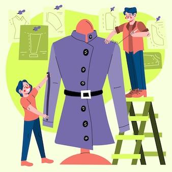 Concept de créateur de mode dessiné à la main