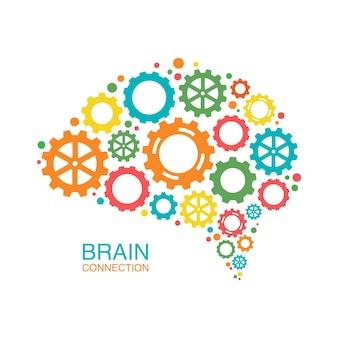 Concept créatif coloré du cerveau humain