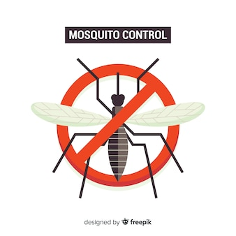 Concept créatif de contrôle des moustiques