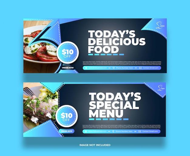 Concept créatif nourriture délicieuse restaurant délicieux bannière de médias sociaux