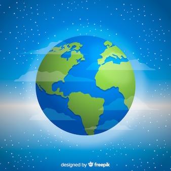 Concept créatif de la planète terre