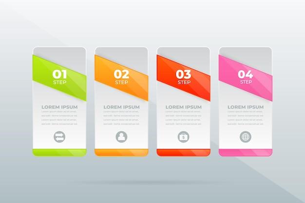 Concept créatif pour la visualisation de données d'entreprise infographique