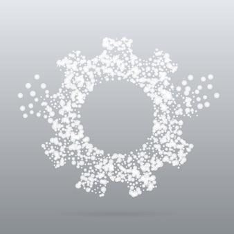 Concept créatif en style de particule