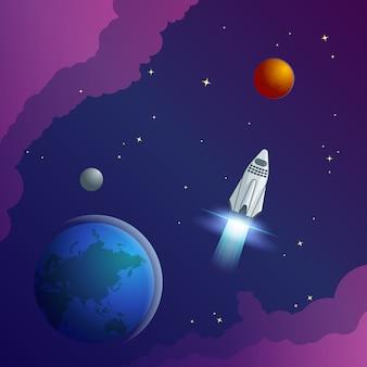 Concept créatif de l'univers coloré