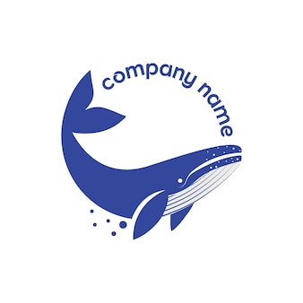 Concept de création de logo de baleine créative