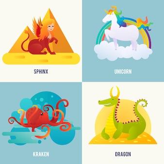 Concept de créatures fantastiques