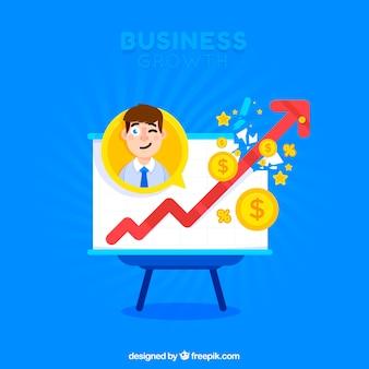 Concept de croissance d'entreprise créative