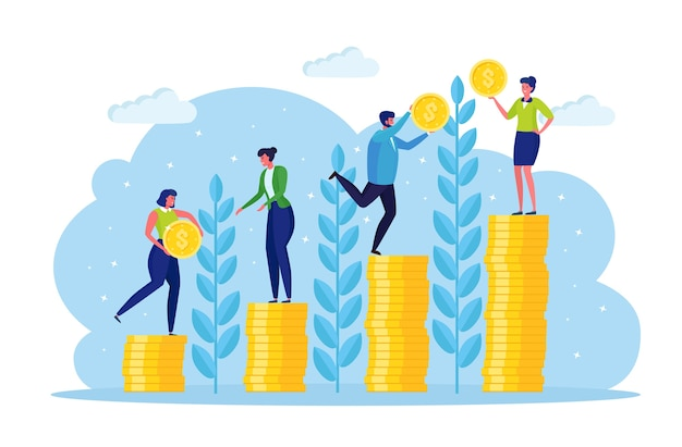 Concept de croissance d'investissement et de financement