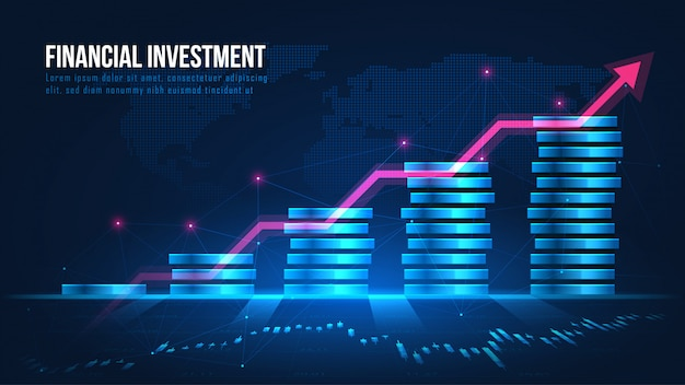 Concept de croissance des investissements financiers mondiaux