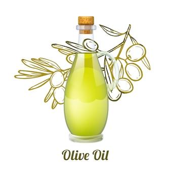 Concept de croquis de l'huile d'olive