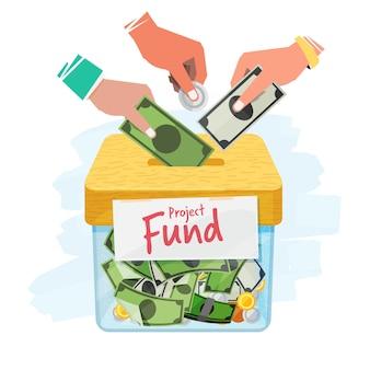 Concept de crowdfunding
