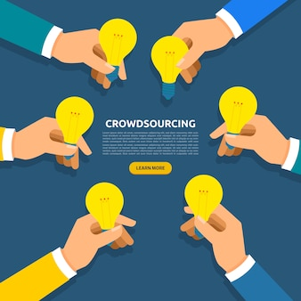 Concept de crowdsourcing. illustrer.