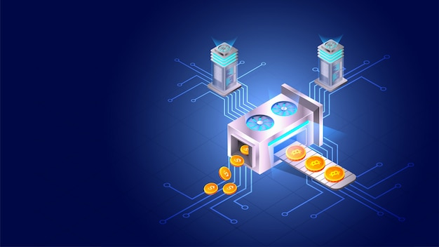 Concept de crypto minière.