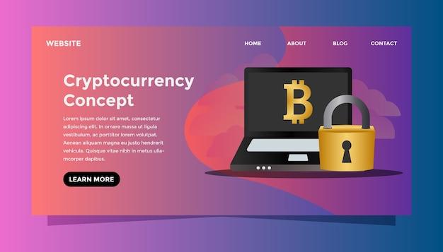 Concept de crypto-monnaie.