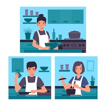 Concept de cuisine de personnes