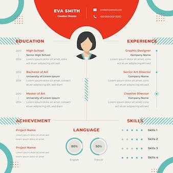 Concept de curriculum vitae en ligne