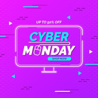 Concept de cyber lundi au design plat