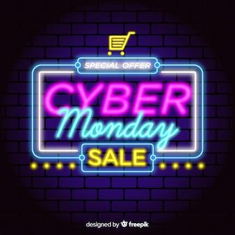 Concept de cyber lundi avec design néon