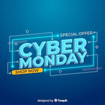 Concept de cyber lundi avec fond design plat
