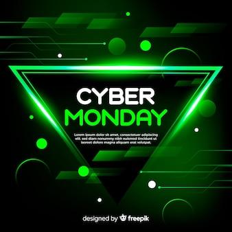 Concept de cyber lundi avec fond réaliste