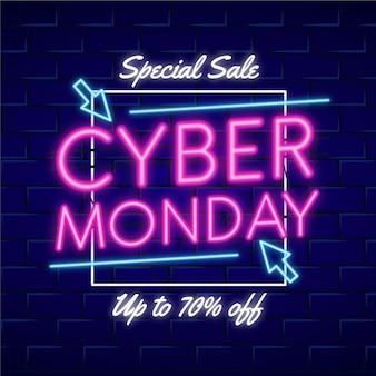 Concept de cyber lundi néon