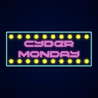 Concept de cyber lundi avec néon