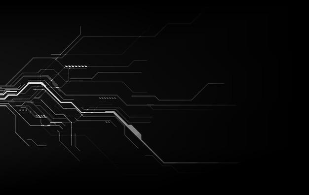 Concept de cyber technologie abstraite. fond de vecteur