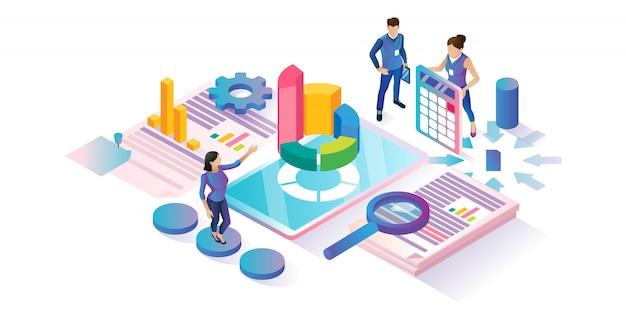 Concept de cyberespace isométrique de recherche de données