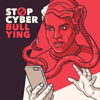 Concept de cyberintimidation