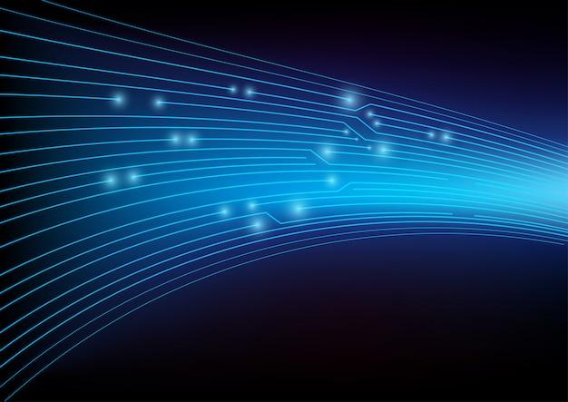 Concept de cybersécurité bleu.