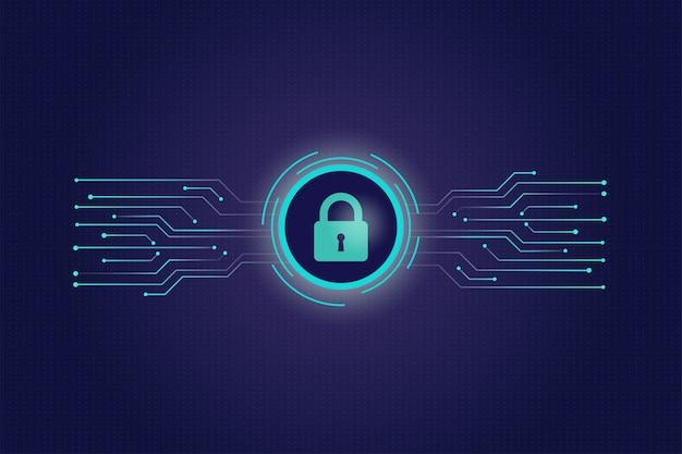 Concept de cybersécurité