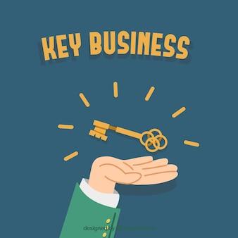 Concept d'entreprise clé dessinés à la main