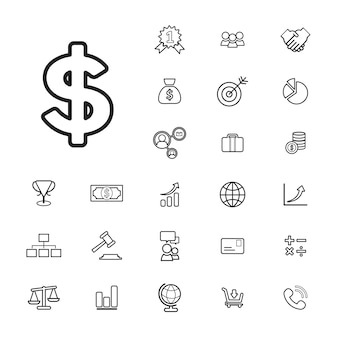Concept d'interface utilisateur Banque d'affaires financière Vector Collection