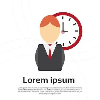 Concept de date limite de gestion du temps business clock