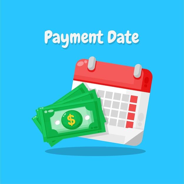 Concept de date de paiement ou icône de dépannage